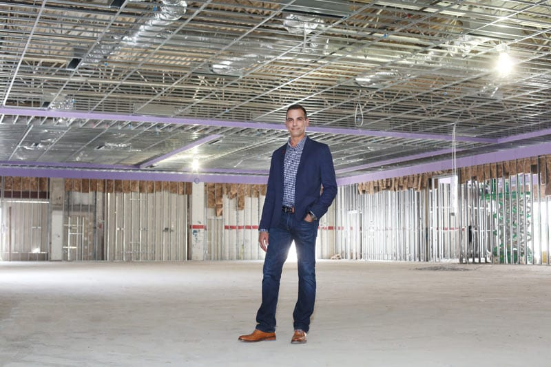 Dave Lishness oversees construction of new Legendary Events venue Flourish, as A legendary life shown here in September.