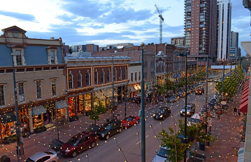 Find boutique shops and high-end dining at Larimer Square.
