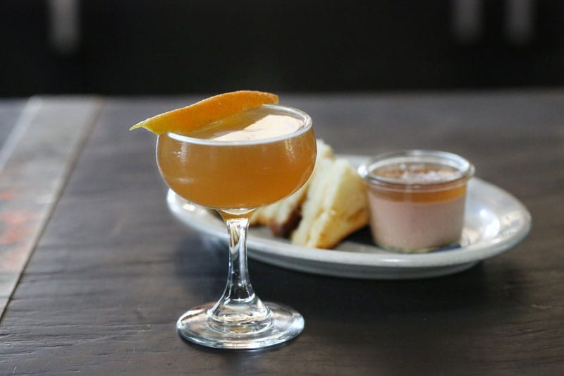 The Brown Derby is a classic blend of bourbon and grapefruit that never lets you down.Add in the chicken-liver paté with cider gelee is a terrific nosh to go [...] </p srcset=