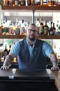 Lead bartender Kaleb Cribb has mastered the art of using fresh local ingredients in his cocktails.