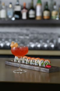 The Americano Royale is an elegant sipper to go with the New Page sushi roll.