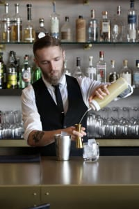 Umi's Gabe Bowen is the vision behind the Japanese restaurant's delicious cocktails.
