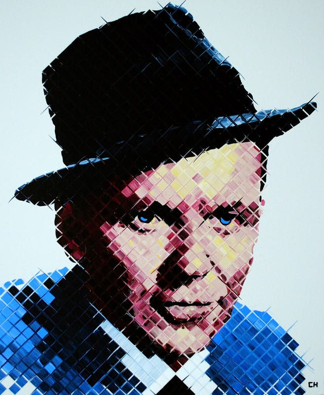 Spotlight on Art features artists such as Charlie Hanavich, creator of contemporary pieces Sinatra and Abraham Lincoln.