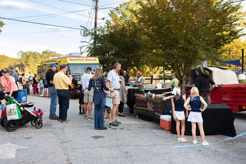 Hungry locals gathered for food and fun at Murphey Candler Park.
