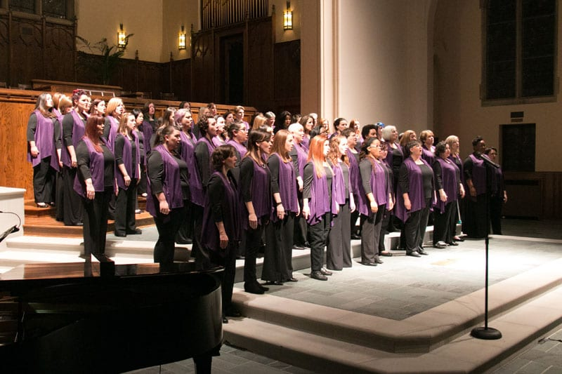 The men's and women's choirs known jointly as Voices of Note perform together for the first time March 18 and 19, with a goal of expanding people's hearts and minds through song.