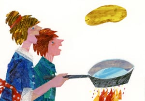 The play based on Eric Carle's classic kids' book Pancakes, Pancakes! explores the joy of cooking.