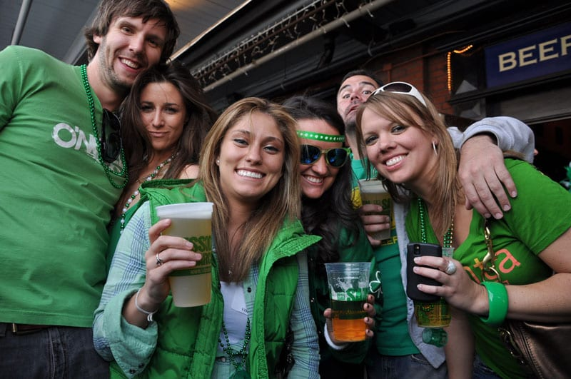 Green-clad Fadó patrons enjoy St. Patrick's Day festivities.