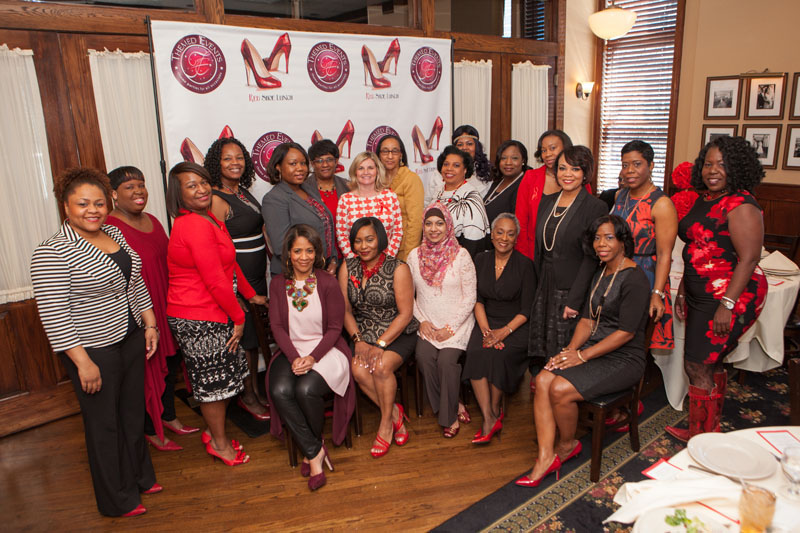 Women from all walks of life gathered in Tammy Kelly, Nancy Howell support of the American Heart Association.