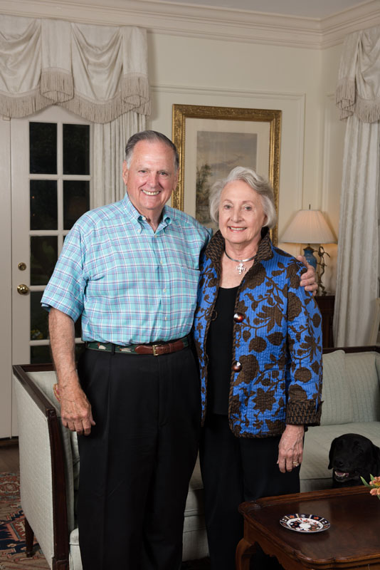 Dudley and Kay Ottley in their Brookwood Hills home.