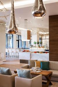 Adorned in a modern, nautical decor, Jack Dusty boasts a raw bar stocked with fresh catch.