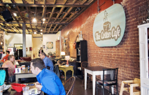 Find your spot at The Cotton Café, and the barista will serve you.