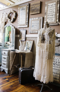 At Vintage Revival, vendors set up booths to display their unique wares.