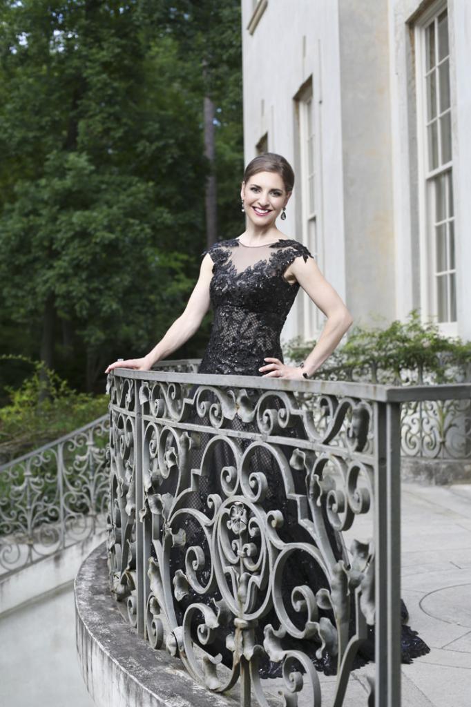 Wardrobe: Dress (Jovani, $795), Neiman Marcus; bracelet, Kendra Scott; earrings, stylist's; rings her own