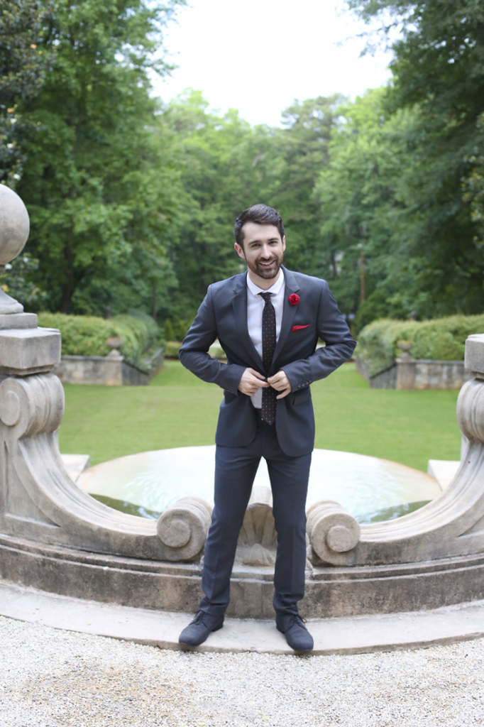 Wardrobe: Suit, shirt, shoes and belt his own; necktie (Brunello Cucinelli, $295) and lapel pin (Hook & Albert, $30), Neiman Marcus