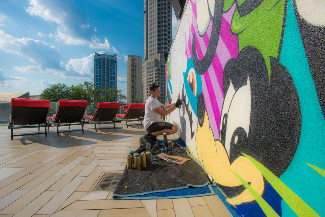 Atlanta artist Greg Mike brings vibrant color and local appeal with Lost in Paradise at W Atlanta – Buckhead.
