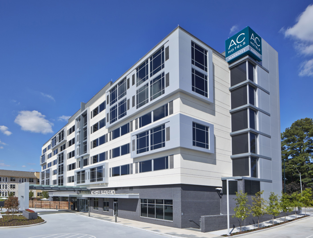 The recently-opened AC Hotel Atlanta Buckhead sits on the edge of Phipps Plaza.