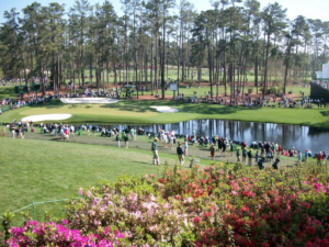 The famous 16th hole at Augusta National. If you're looking to see a hole in one at the Masters, this is the most likely place.