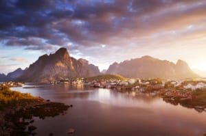 Spots in Norway such as the Lofoten Islands are popular destinations for those seeking to catch the northern lights.