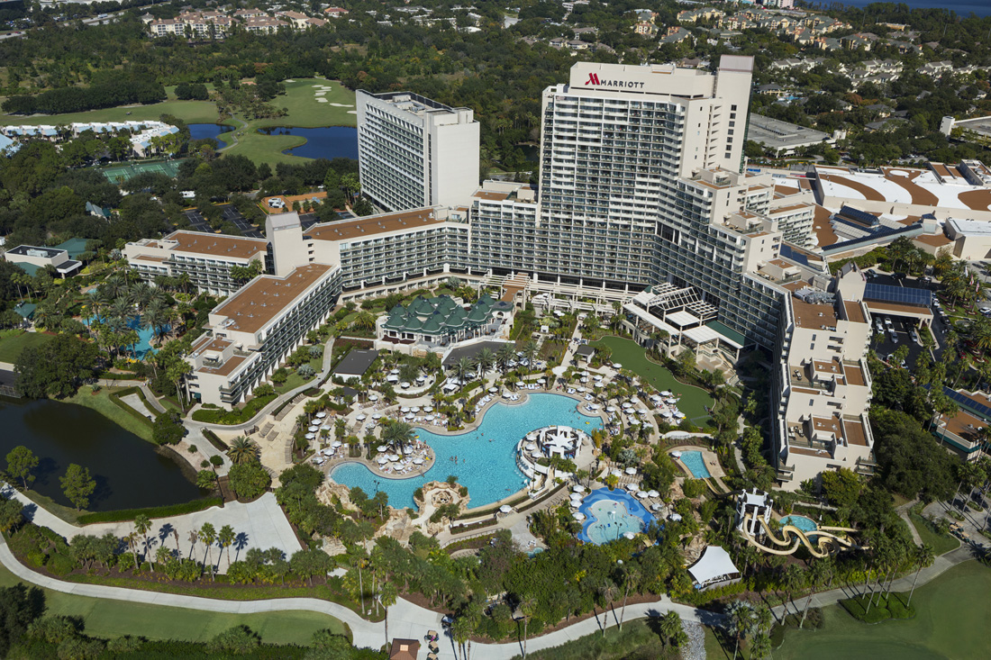 The lavish Orlando World Center Marriott sprawls out over 200 acres.