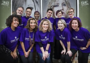 The Salon Skanda staff who volunteered their services to support Team Summer.