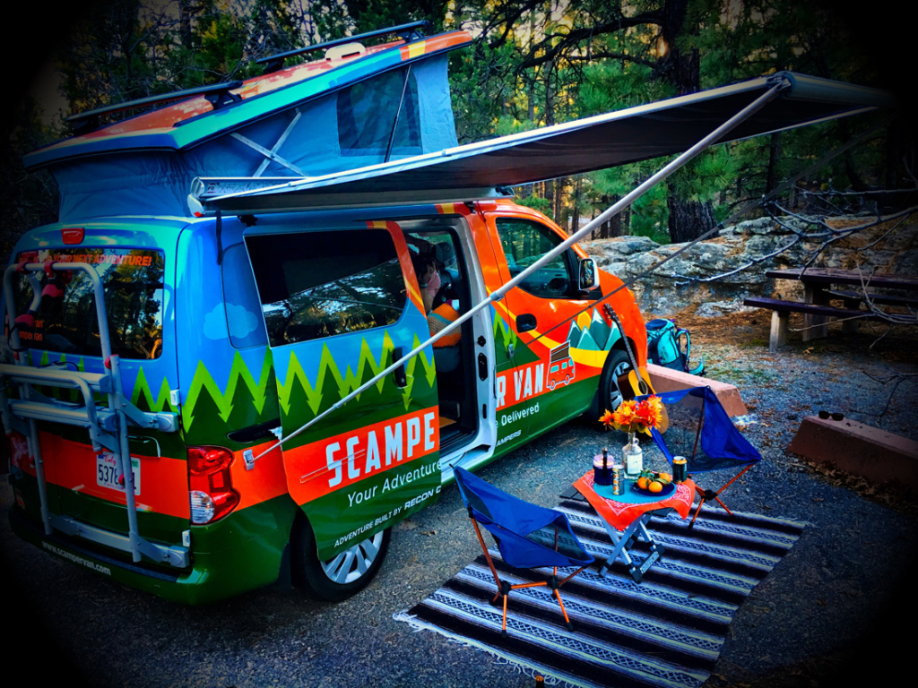 Love the great outdoors but don't have the requisite camping equipment? No worries, because Scamper Van will deliver it all right to your door.