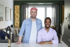 Jeremy Garriott (left) and James Hunter rented out their chic townhome on Airbnb prior to moving in.