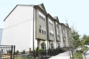 The three-level townhome was chosen in part for its convenient location off Lindbergh Way.