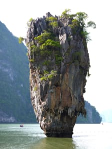 One of Thailand's karst islets made famous in the James Bond flick The Man with the Golden Gun.