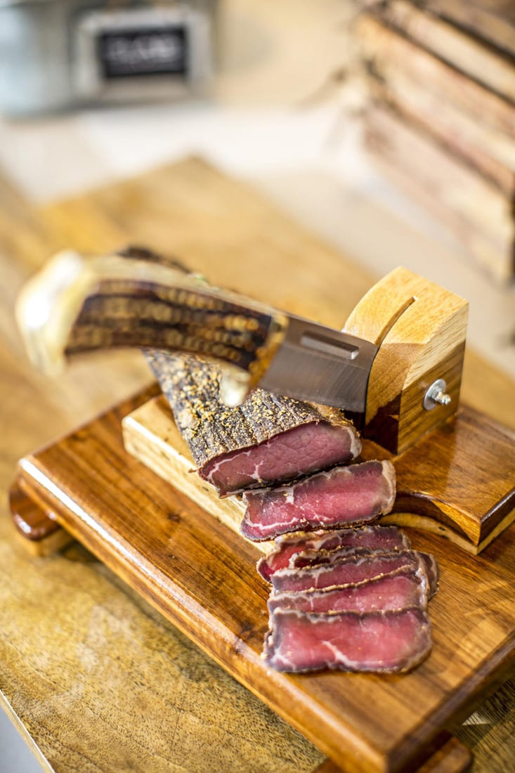 Biltong Bar makes traditional South African beef jerky in-house.