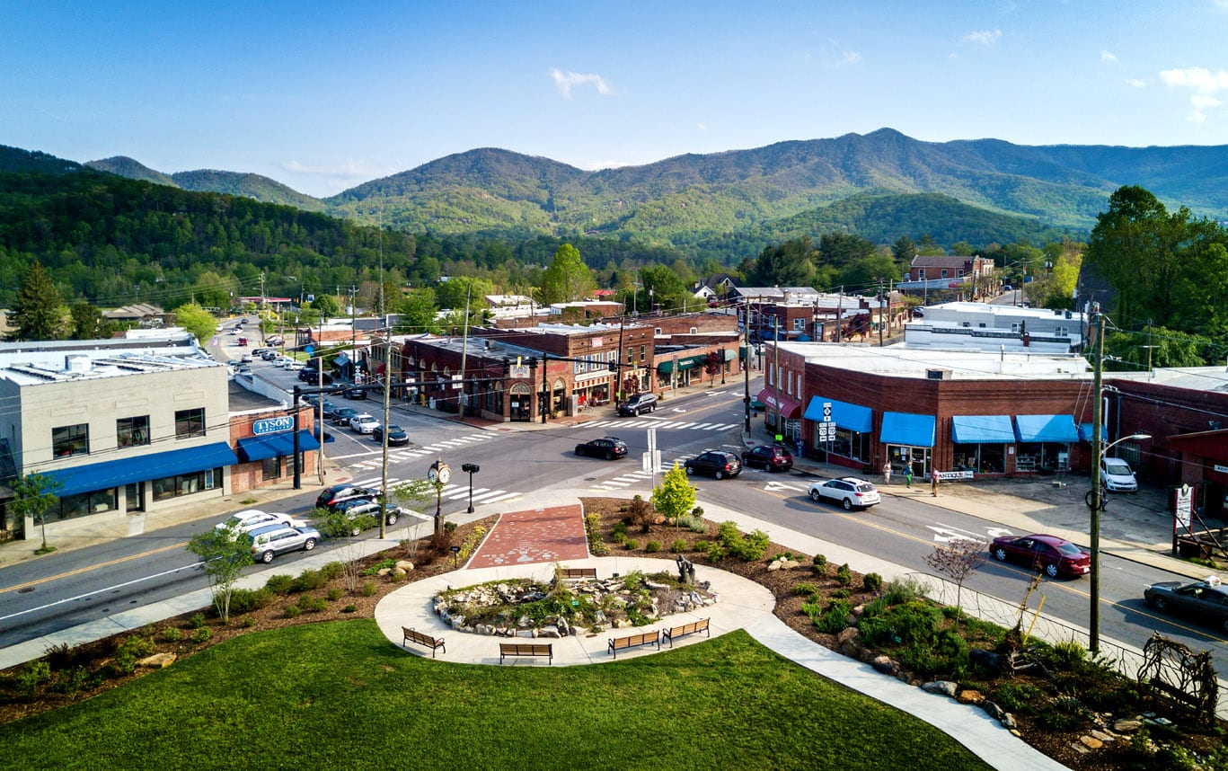 Nestled in the shadow of the Blue Ridge Mountains, the town of Black Mountain boasts a quaint downtown district.
