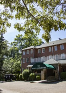 The historic Monte Vista Hotel has 45 guestrooms, a courtyard and a porch perfect for rocking.
