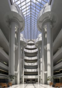Portman was noted for his atriums, such as this one at the American Cancer Society Center. © 2018 The Portman Archives, image by David Naughton