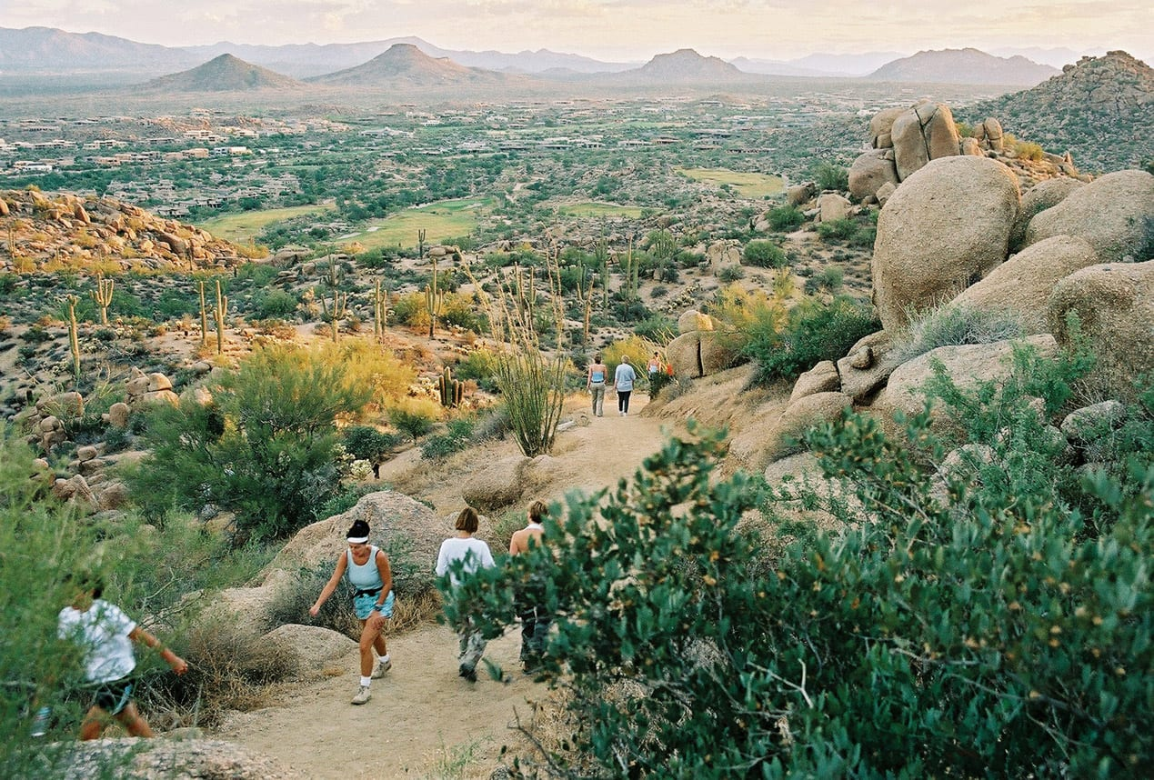 Pinnacle Peak is a popular morning hike for visitors and locals.