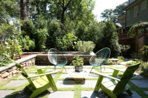Holly Brooks of King Landscaping helped create the backyard oasis.