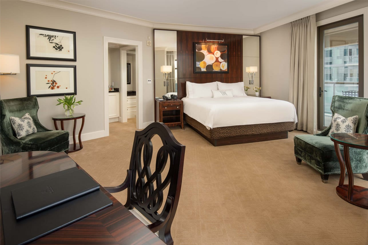 king terrace suite features space and luxury galore.