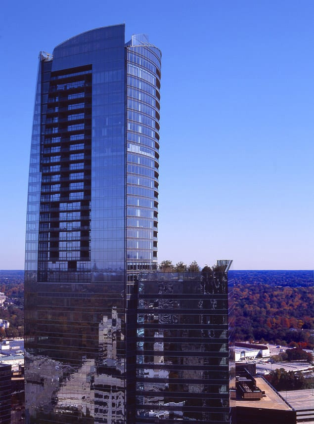 At 635 feet, the 3344 Peachtree/ Sovereign tower, Buckhead's tallest, is visible from all directions.