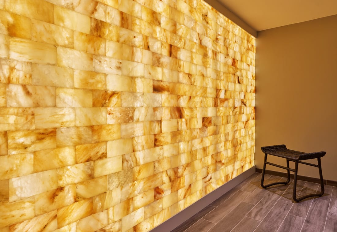The recent renovations at The Whitley hotel include a new therapeutic salt room.