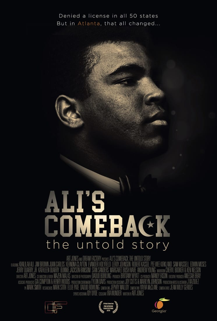 The documentary Ali's Comeback tells the story of how a group of Atlantans, including businessman Robert Kassel (top photo, on right), former mayor Sam Massell (middle photo) and Senator Leroy Johnson (bottom photo), arranged for boxer Muhammad Ali to stage his big comeback fight.