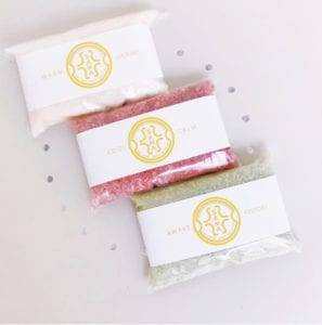 The bath salts available at Sama are good for everything from eczema to stomach cramps.