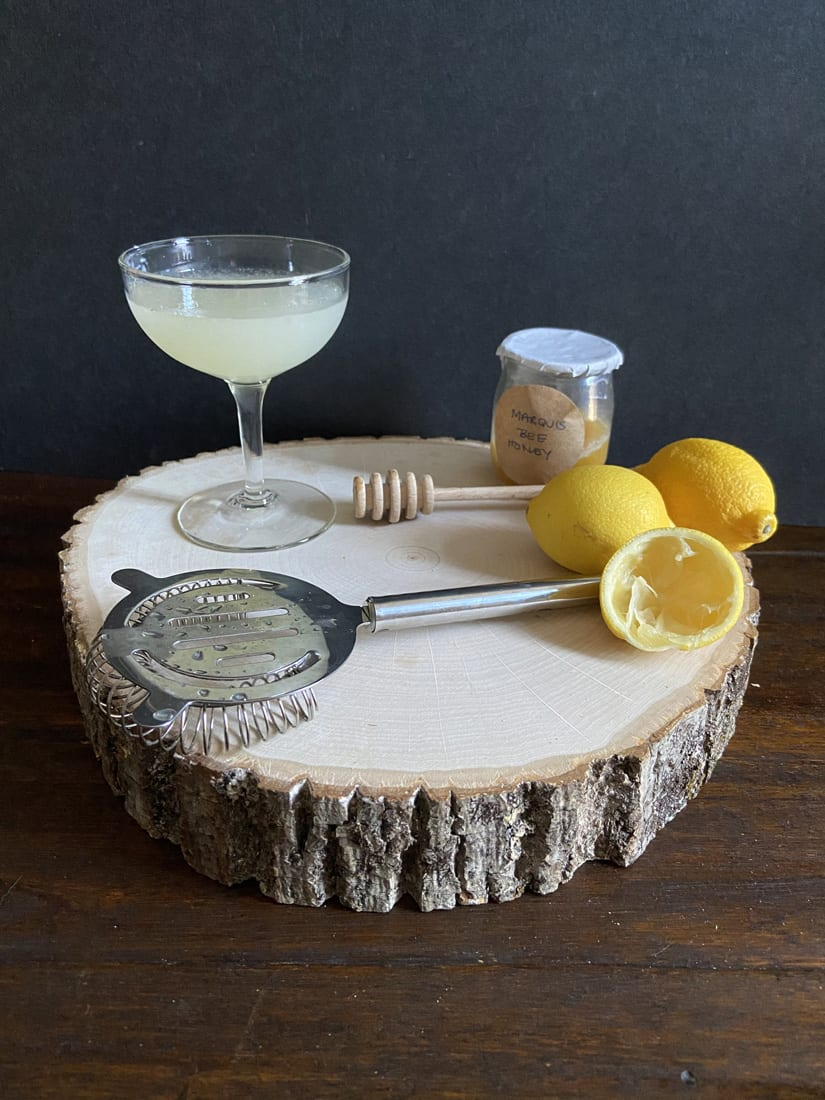 A Bee's Knees cocktail has sweet and citrusy balance that is easy to replicate at home.