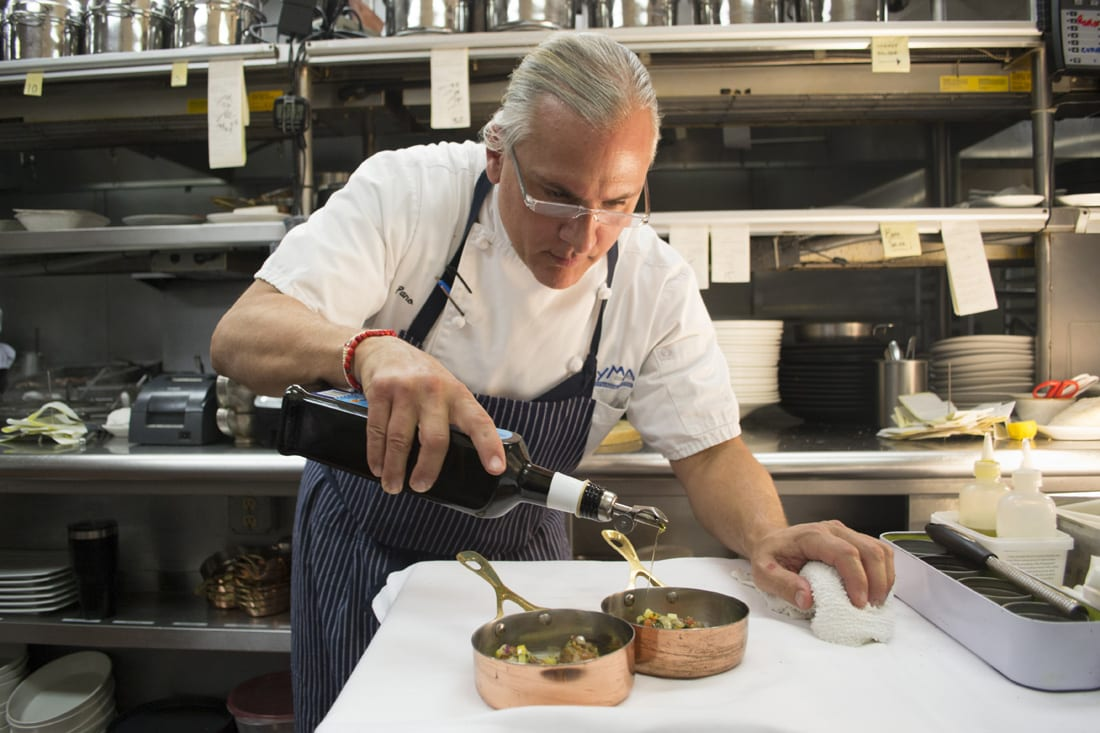 Chef Pano Karatassos suggests using his olive oil to finish salads, sauces, risotto and pasta.