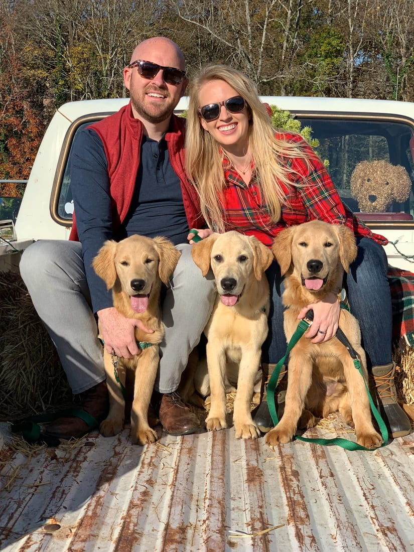 Paul Mathewson and Cameron Davis share their home and lives with pups training to be service dogs at Canine Assistants.