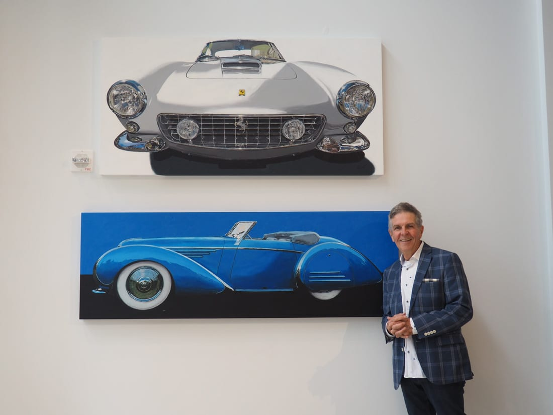 Buckhead resident and artist Richard Webb paints lifelike versions of classic cars.